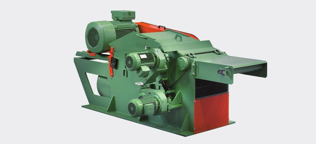 VTH 15 For the production of high quality wood chips made from short or