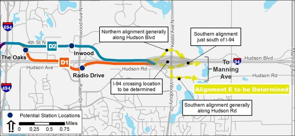 Additional Analysis Post AA Study Decisions 2013 to 2014 AA Study included Alignment D1 Further discussions with east corridor