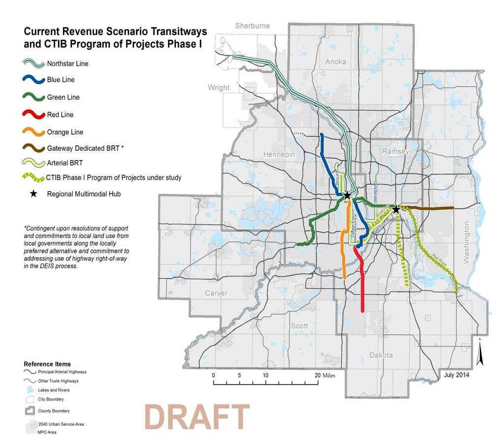 Gateway Corridor Transitway Proposed highcapacity transit