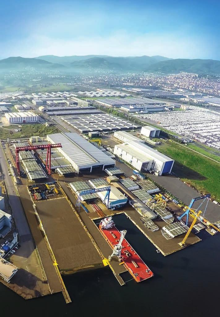 CIMTAS PIPE ÇİMTAŞ STEEL Gemlik - Turkey Gemlik - Turkey 160,000 sqm Fenced Area 60,000 sqm
