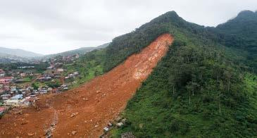 PROJECT UPDATE 32 How Landslides Become Disasters A new modeling platform, tested on two recent natural disasters, simulates conditions that dump landslide debris into rain- swollen