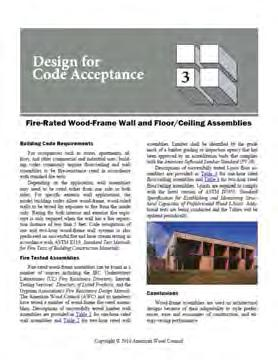 Documented in Approved Source DCA 3 Fire-Resistive Wood Wall and Floor/Ceiling