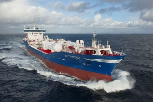 LNG fuelled ship, Glutra 2004-2012: