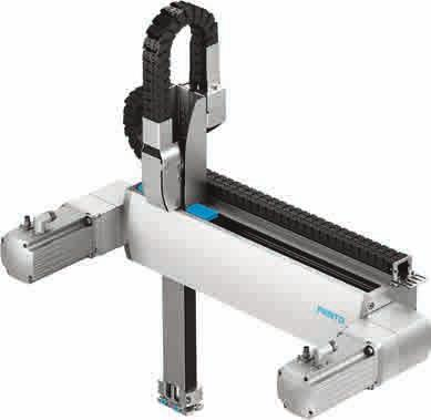 1D handling systems Single-axis system: for movement in one dimension The single-axis system with its high mechanical rigidity and sturdy design is ideal for long, onedimensional strokes and large