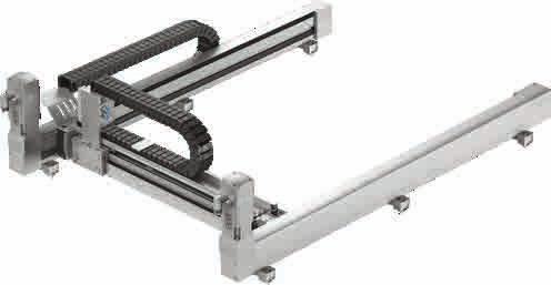 Simply configure and order handling systems and Cartesian robots Highly dynamic surface gantry: maximum dynamic response in the installation space The gantry with robotic functionality has an