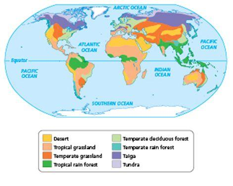 A is a region of Earth where the climate determines the types of plants that live there. The of plants in a biome the of animals that live there.