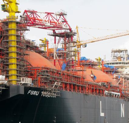 construction supervision as well as floating and land-based LNG