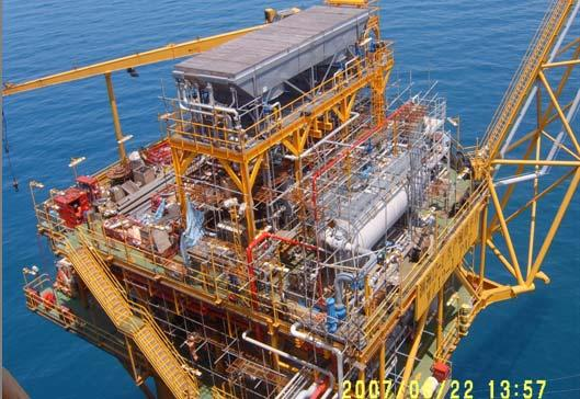 Gas injection to Improve Recovery Ratio The right picture shows the Gas Injection Project in WZ12-1 Oilfield(located in South China Sea).
