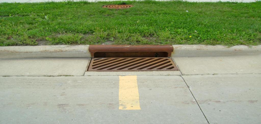 Street inlets: Street inlets are the openings through which storm water is admitted and conveyed to the