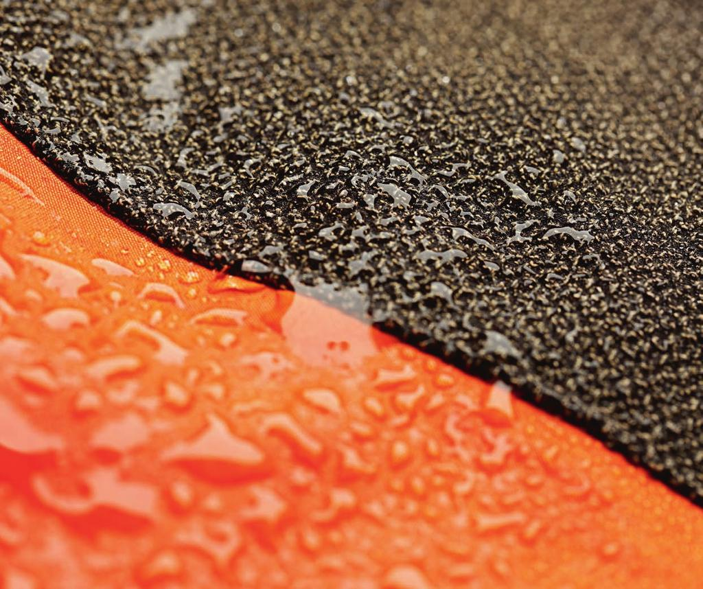 Article Protective Clothing, Fabrics and Fibres many technical textiles are coated with a full layer of polymers, but by replacing part of the coating material with keratin the coating becomes