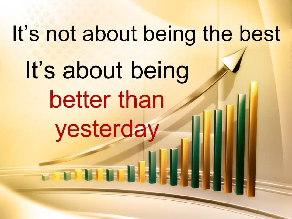 being better than yesterday The mark