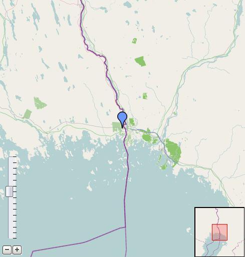 Project PolarSol koti 41\193\- Location of the system Map section Profil Longitude: 24.109 Latitude: 65.