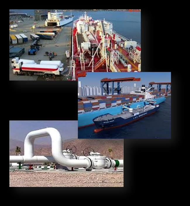 PORT INSTALLATIONS INFRASTRUCTURE NEEDS An LNG port infrastructure consists of: