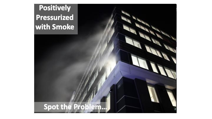 In a smoke test, the areas of leakage or