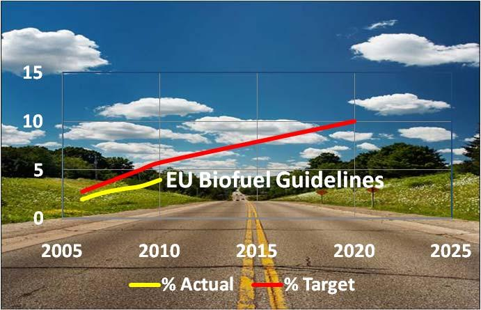 The EU objective is to fulfil the 20 20 20 package for the year 2020, in other words to substitute 20% of the total energy consumed in the EU for