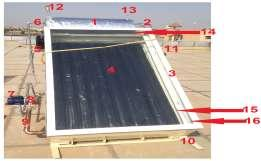 performance of double glazed solar water heater was evaluated. The specification of device illustrated in table (1) and photograph of the experimental setup has been shown in Figure (1).