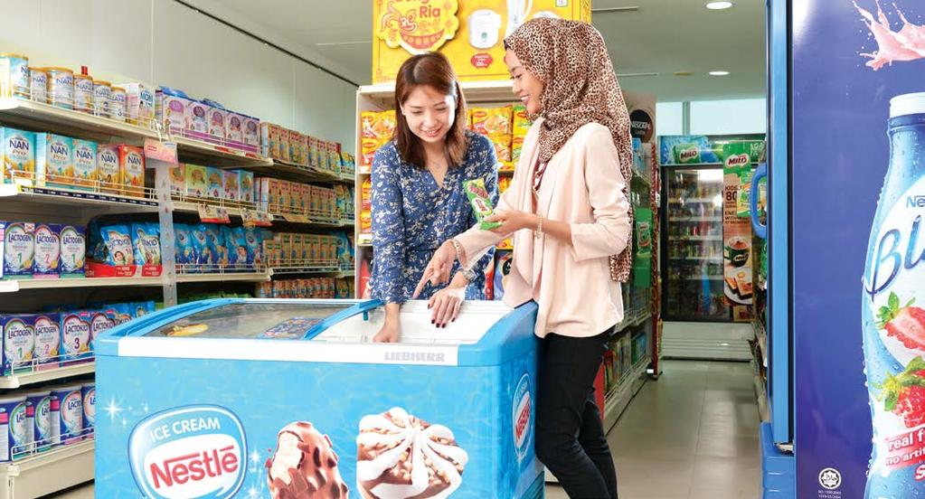 NESTLÉ IN SOCIETY REPORT 2016 47 Water & Environment The Company s newly purchased ice-cream freezers now use natural refrigerants to reduce ozone depletion.