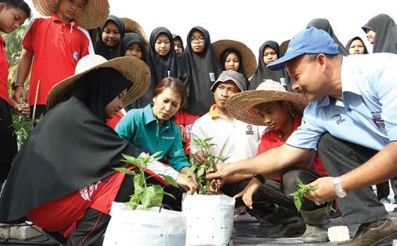 So far, 29 residents have received 0.4 hectares land for chilli planting, and are generating an average income of RM1,200 monthly.