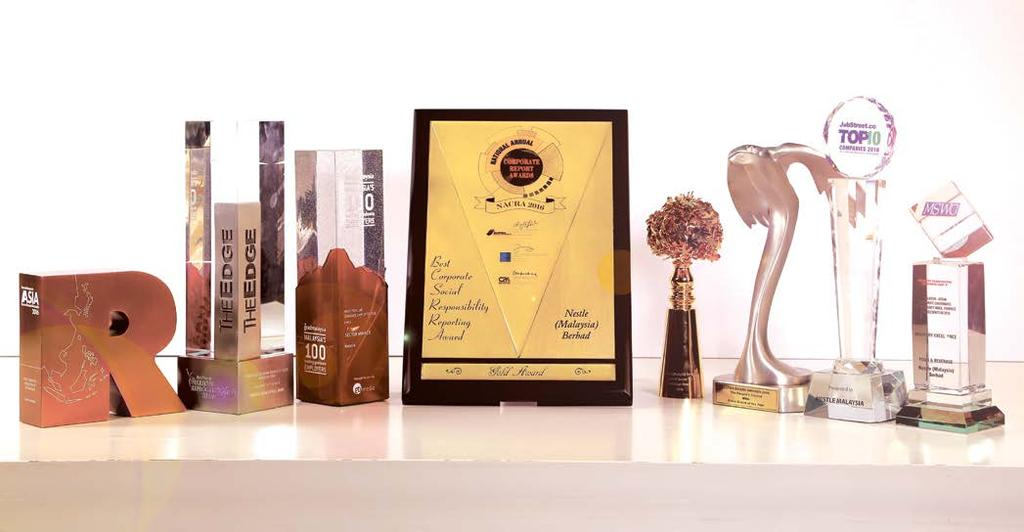 80 NESTLÉ IN SOCIETY REPORT 2016 AWARDS AND ACHIEVEMENTS The Edge Billion Ringgit Club Corporate Awards 2016 The Edge Billion Ringgit Club awards top performing public-listed companies in Malaysia