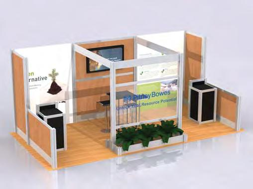 Customized Rental Exhibits 20 x 20 island Our