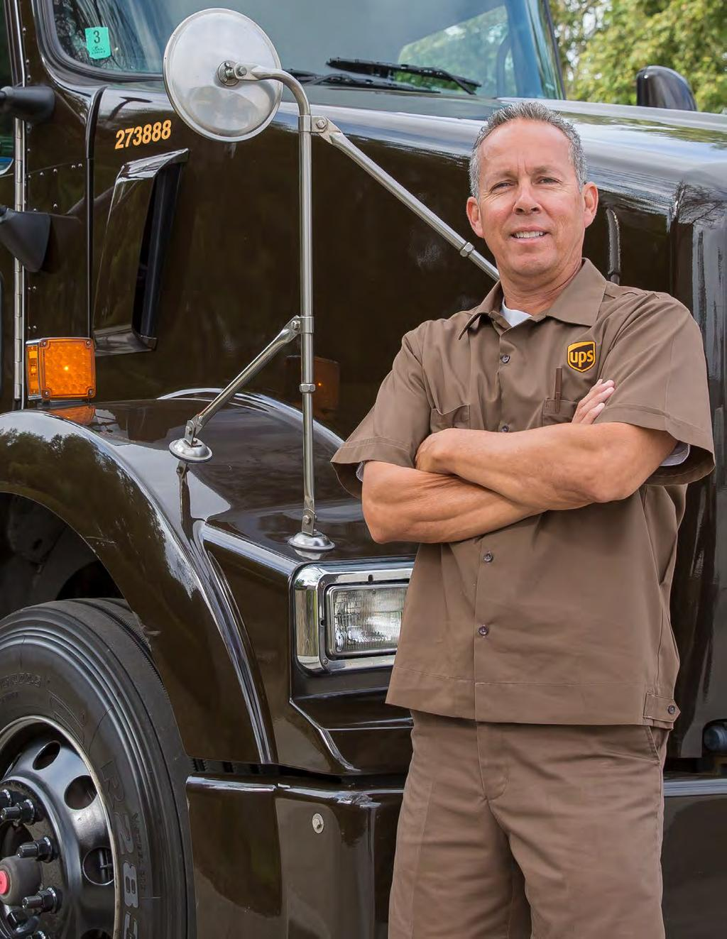 Environmental Responsibility COMMITTED TO MORE Mark Espinosa UPSer Mark Espinosa drives a Liquefied Natural Gas (LNG) vehicle on his daily Southern California route, playing an important role in the