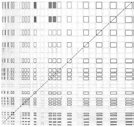 Figure 2.8 BRS. Building Research Station Module Chart. UK Standard opening sizes study for mass production and building industry development. 1960 2.4 DESIGN PROCESS.