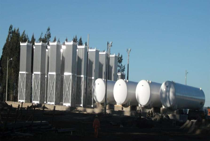 Links in the chain Local regas terminal in Chile by