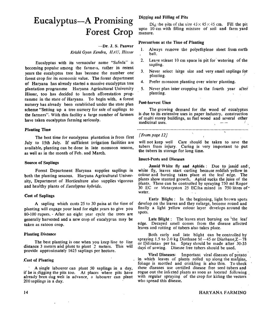 Eucalyptus-A Promising Forest Crop -Dr. J. S.