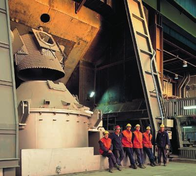 Meltshop Processing steel scrap and alloys in the melt shop is the first step in the production of stainless steel.