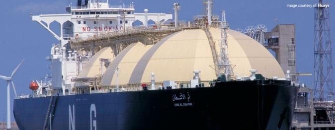 bunkering ships which transport LNG in smaller