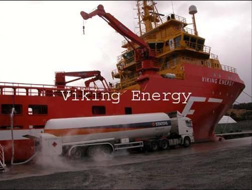 Bunkering From Truck LNG Trailer ~ 40 m 3 (US GVW limit) Can Service Viking Energy ~ 209 m 3 US OSV ~