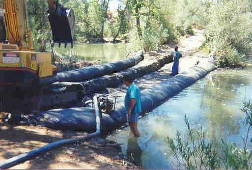 pipeline installation in Pine Creek,