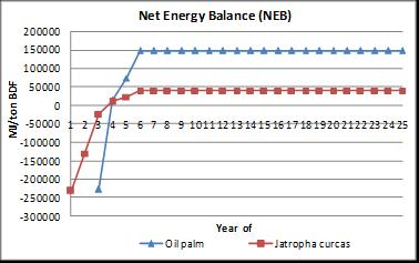 MJ/ton BDF POSTER Fig.10. shows NEB BDF-CPO and BDF-CJCO value throughout its life cycle. NEB value is the result of subtracting output energy values with energy processes.