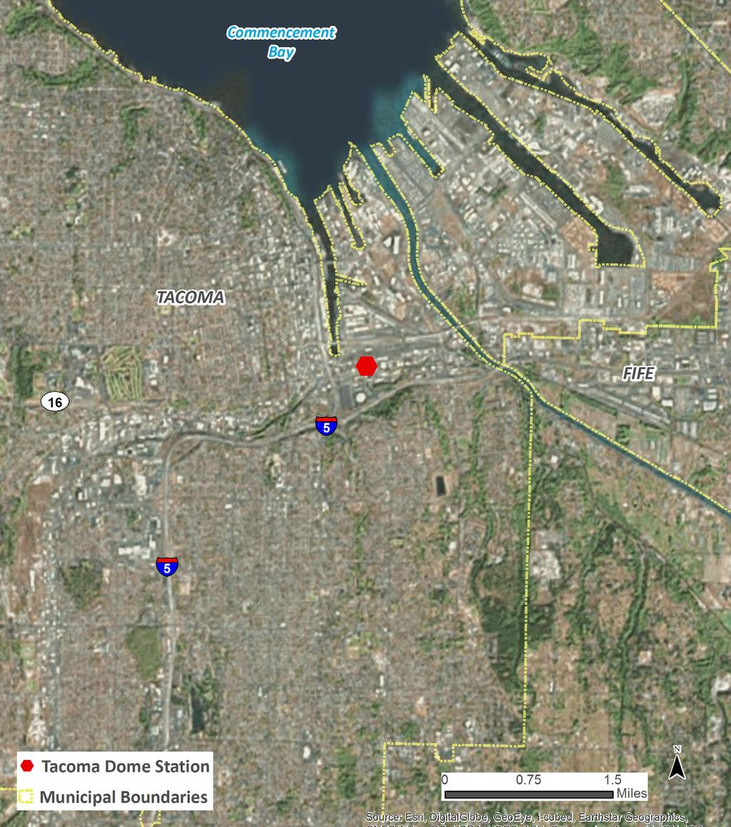 TACOMA DOME STATION. 3,300 Average weekday boardings 2,283 Parking on