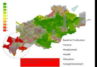 Population Density Spread The area highlighted in red (Region G or South of Johannesburg) has the highest population density with the lowest levels of employment and relatively high potential for