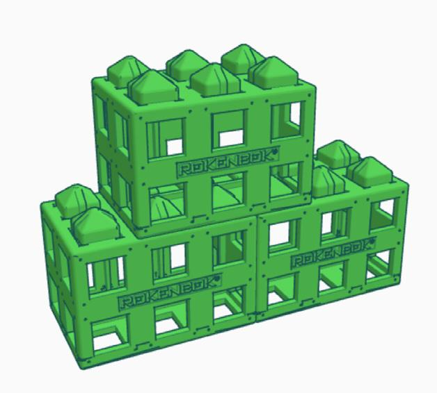 This is an easy way to stack blocks, but is not very strong and has a limited application.