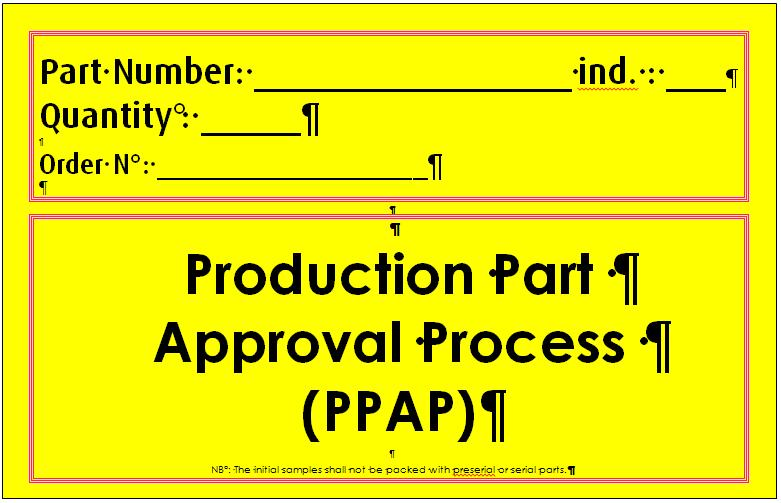 production part approval process supplier information version pdf