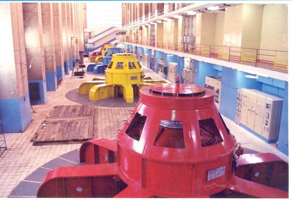 Machine Hall of Bhakra Power House highly motivated workforce who are generally satisfied with wages, benefits and lifestyle.