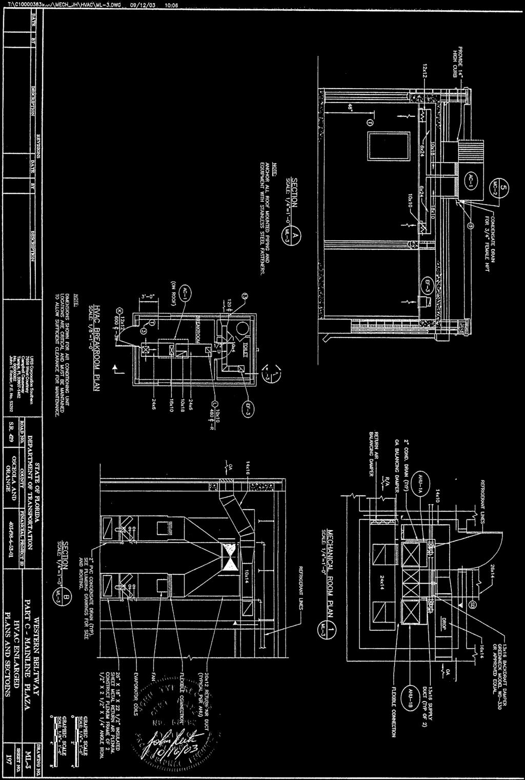 Attachments Itb Dot 16 Rm Heating Ventilation And Air Conditioning Hvac Plumbing Drawing 28 Attachment G Building As Built Plans Sheet No 013