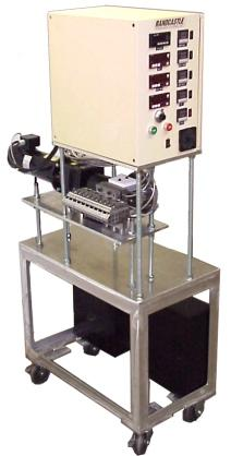 Options LIFT TABLE: 1 Inch Melt Feed Microtruder RCPH-1000 Shown Lowered And Raised With Lift Table The reactor or mixer