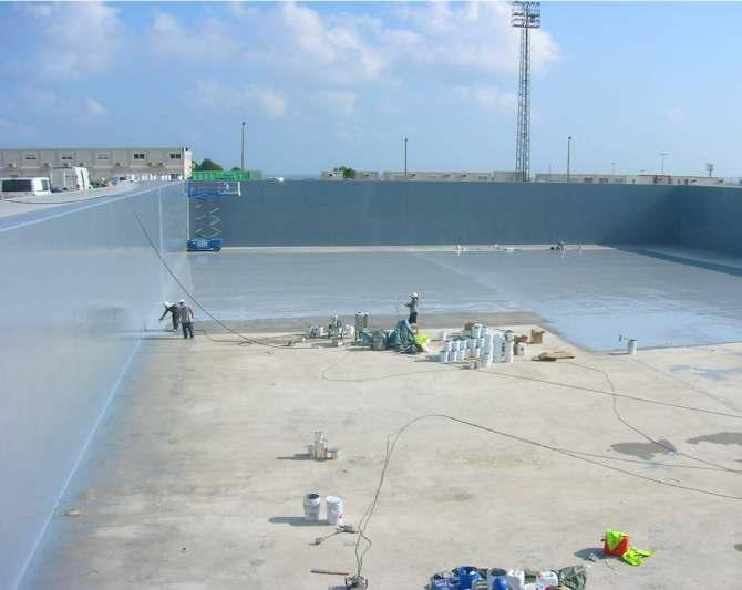 chemical resistant protective coating on all types of equipment and structures.