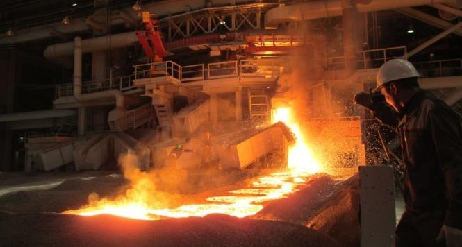 The annual plate production of the plant (melt shop No. 4) is approx. 440,000 t of H.C. ferrochrome [4].
