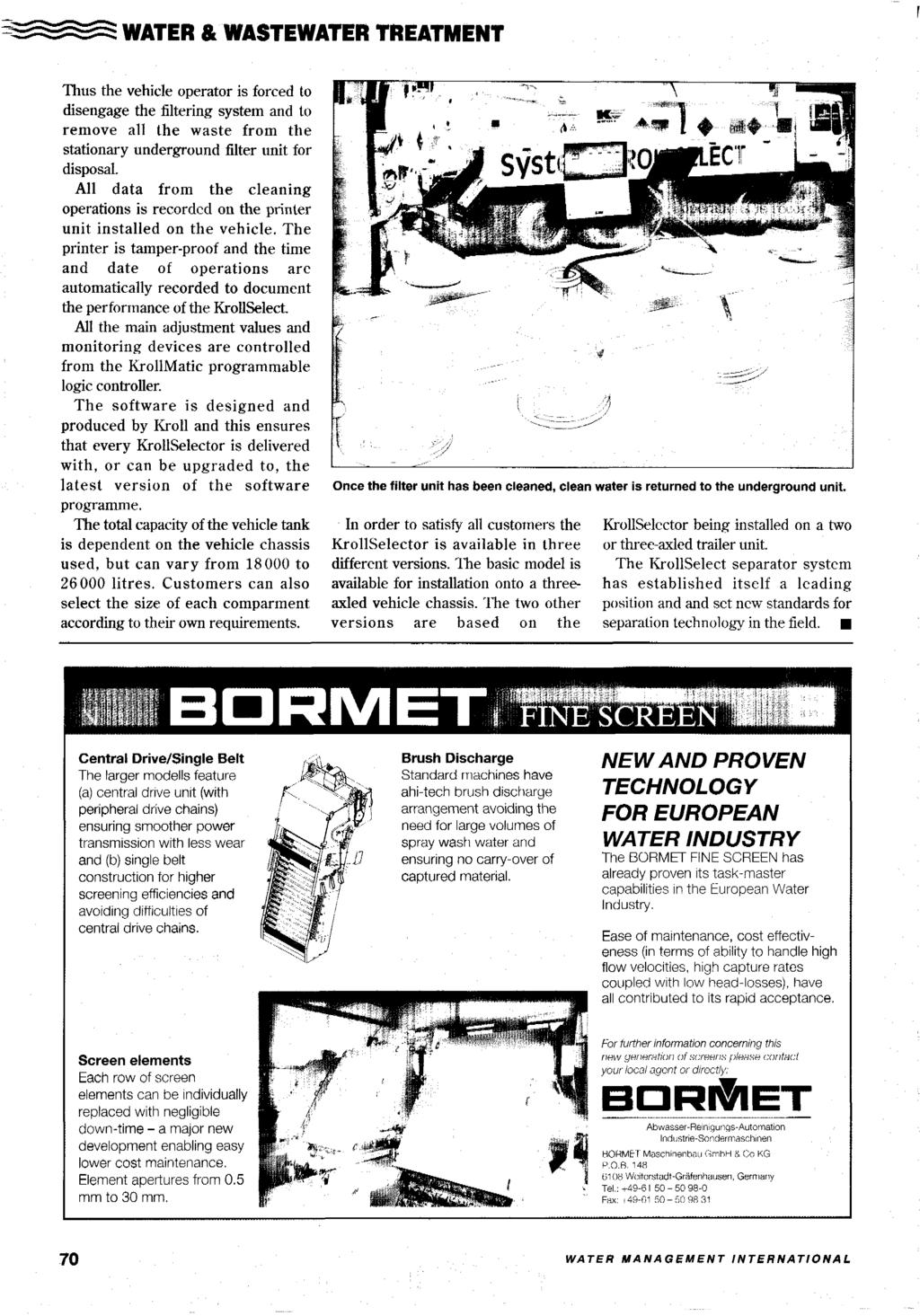 621 Eur95 Management International The Annual Review Of Water Taskmaster 5100 Series Wiring Diagram Wastewater Treatment Thus Vehicle Operator Is Forced To Disengage