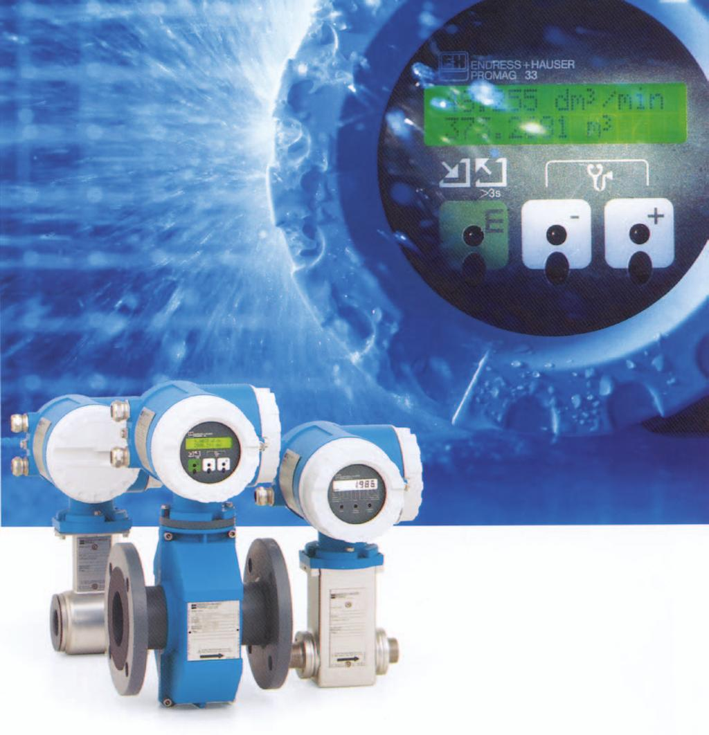 Electromagnetic flowmeters Over 2 million units installed - PDF
