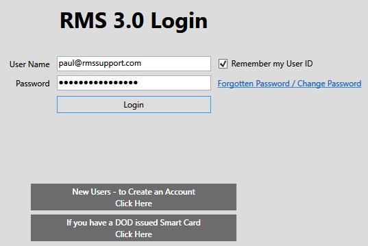 After Verification Login To RMS 3