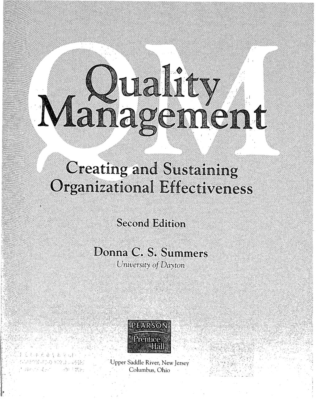 Organizational Effectiveness Second Edition