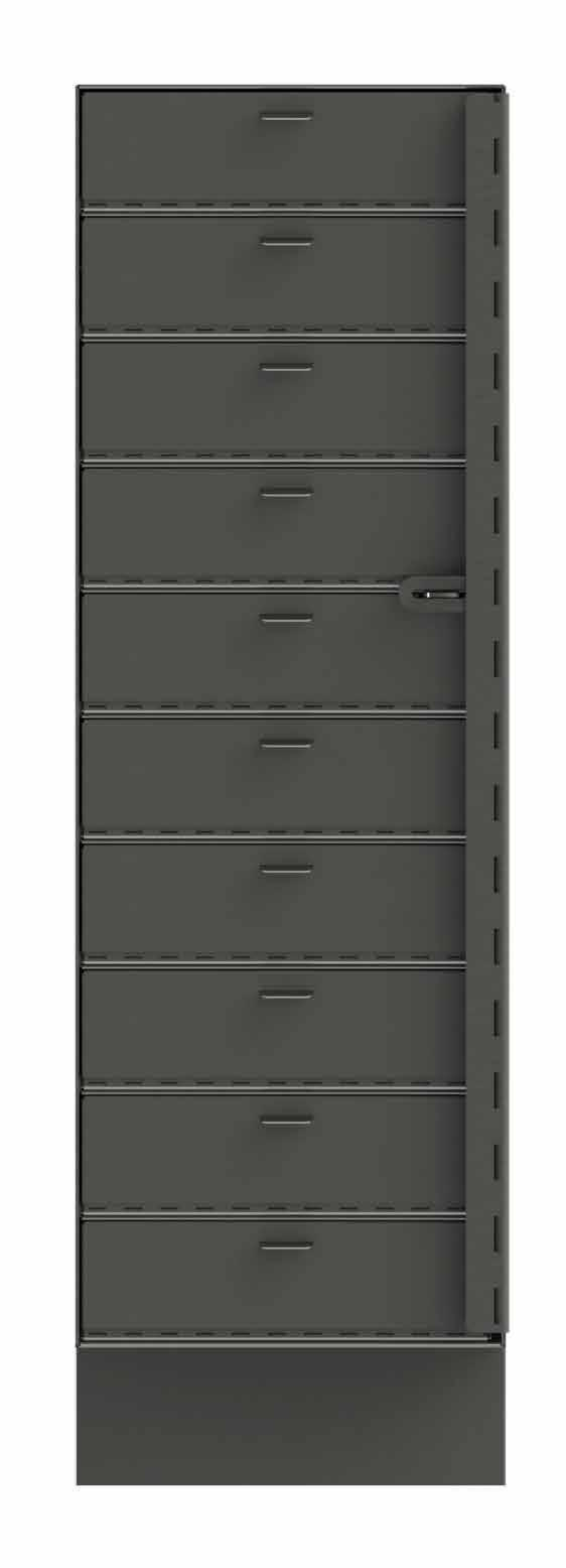 Custom Colors Available FEATURES: Units ship fully assembled Solid panel doors provide secure environment to reduce shrink and