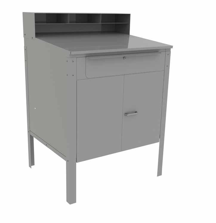 writing surface 5000145 Cabinet unit comes with a built-in lock on doors and all units with