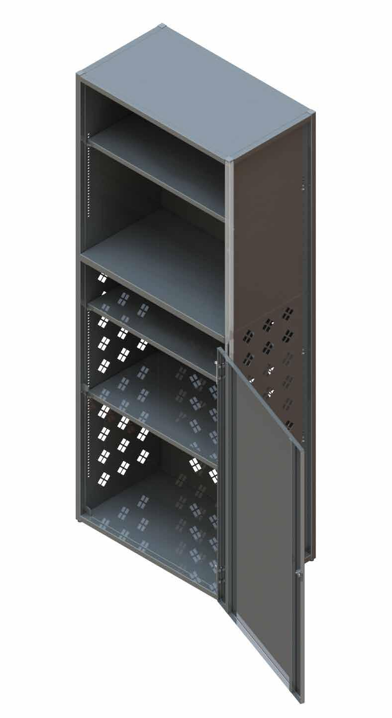ELECTRONIC STORAGE CABINET The To Go Storage Cabinet provides a secure and organized area for store supplies and