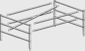 Scaffold Components SCAFFOLD COMPONENTS Horizontal Brace 6ft: (L-75-9/32 ) Part No.
